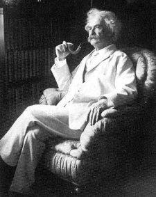 Mark Twain and his Pipe
