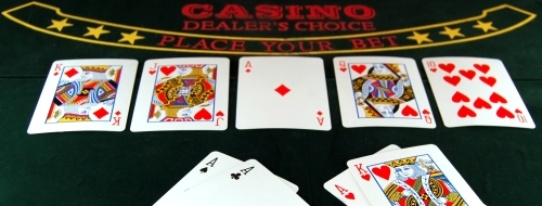 flush texas holdem